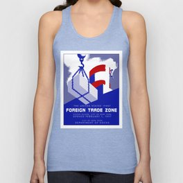 New York Foreign Trade Zone port authority Unisex Tank Top