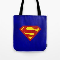 superman Tote Bags featuring Superman by Some_Designs