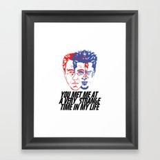strange time in my life Framed Art Print