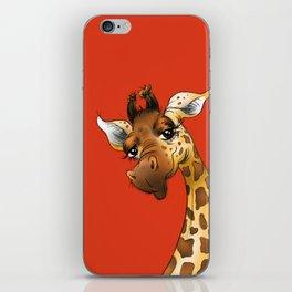 Red Giraffe! iPhone Skin