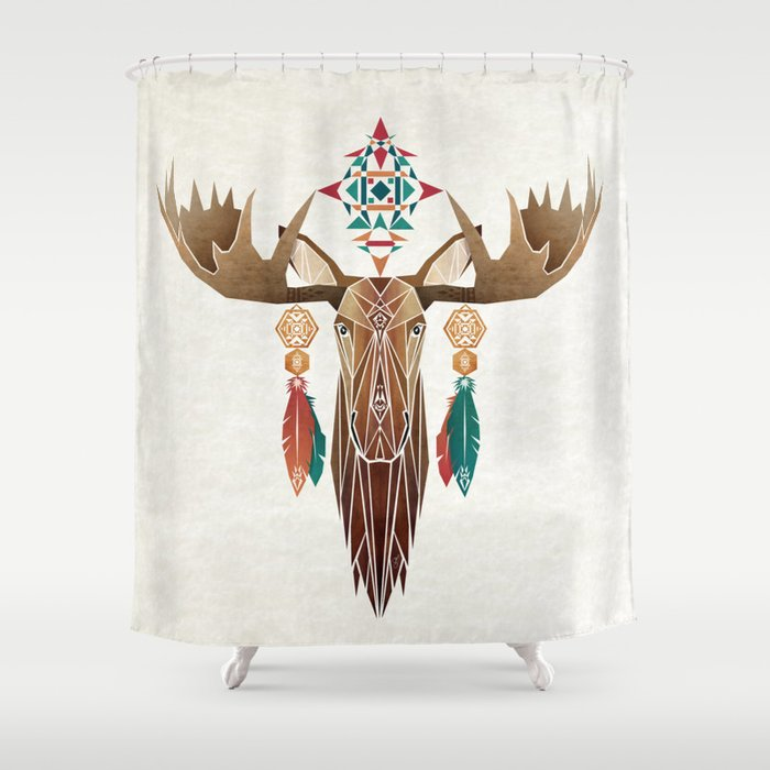 Moose Shower Curtain By Manou