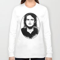snl Long Sleeve T-shirts featuring DARK COMEDIANS: Bill Hader by Zombie Rust