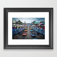 Tomorrowland Speedway Framed Art Print