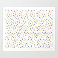 sprinkles Art Prints featuring Sprinkles by Vera Mota