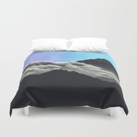 echo mountains Blue Duvet Cover