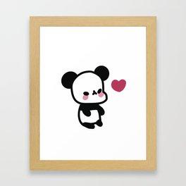 Kawaii Panda Bear - Cute Panda Bear Framed Art Print
