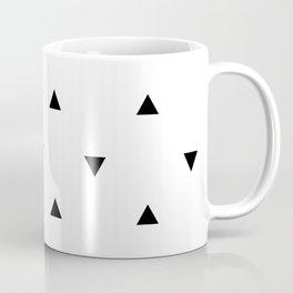 Black and white Triangles geometric pattern Coffee Mug
