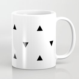 Black and white Triangles geometric pattern Coffee Mug