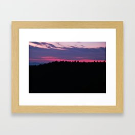 Pink Trees Framed Art Print