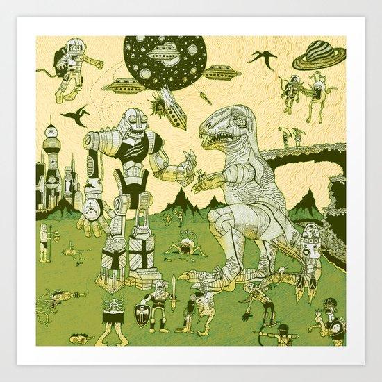 War of the Worlds (man-child edition)...green Art Print
