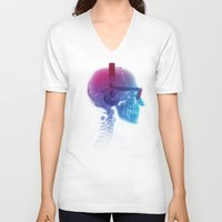 deadmau5 V-neck T-shirts featuring Electronic Music Fan by Sitchko Igor