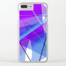 Electric Violet Geometric Abstract Art Clear iPhone Case