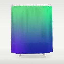 Green Blues Shower Curtain