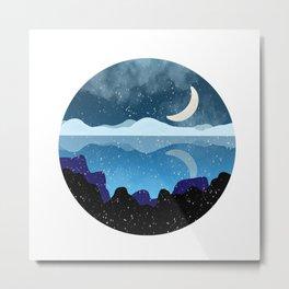 Snowed Midnight Metal Print