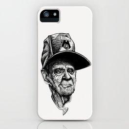 elder man head iPhone Case