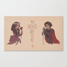 No Wrong Way, Ladies Canvas Print