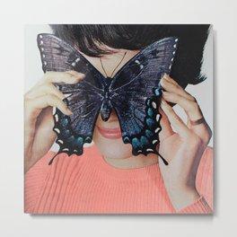 Morpho Butterfly Metal Print