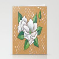 magnolia Stationery Cards featuring Magnolia by Judy Skowron