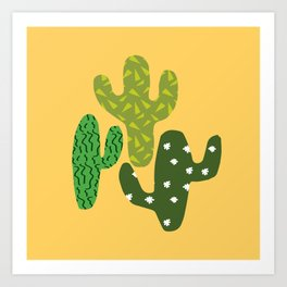 Cactus (Minimal) Art Print