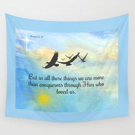 More Than Conquerors Wall Tapestry