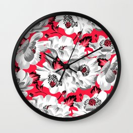 Mount Cook Lily - Pink/White Wall Clock