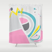 cake Shower Curtains featuring Cake by These Are Strange Days