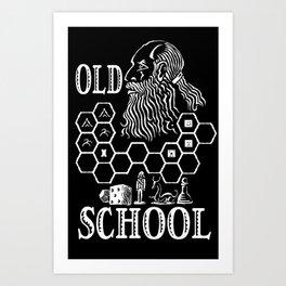 Old School Gamer Art Print