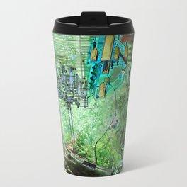Digital Circuit Jungle Tree, creatures of the electronic age Travel Mug