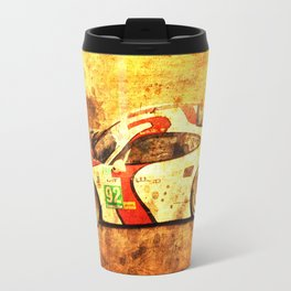 2014 911 RSR classic race car golden background Travel Mug