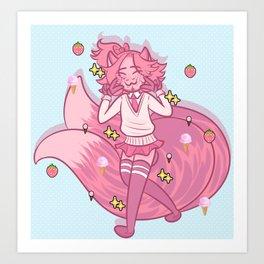 Kitsune Schoolboy Art Print