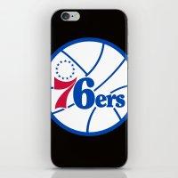 nba iPhone & iPod Skins featuring NBA - 76ers by Katieb1013
