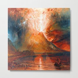 William Turner Vesuvius Eruption Metal Print