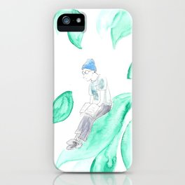 He studies on a leaf iPhone Case