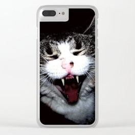 Vampire Kitty Clear iPhone Case