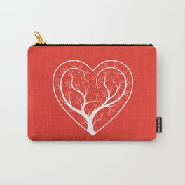 Heart Flower Tree Carry-All Pouch