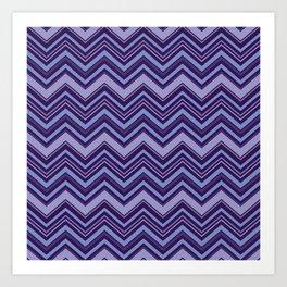 Geometric ocean Art Print