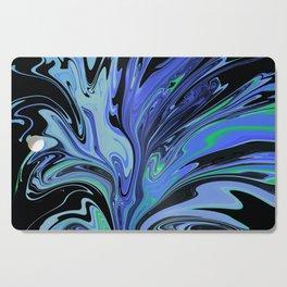 Blue Black Paint Spill Cutting Board