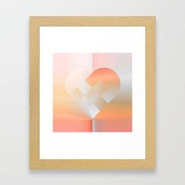 Danish Heart Coral Framed Art Print