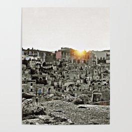 Sassi di Matera: view Poster
