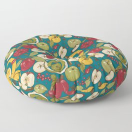 Apples, autumn harvest Floor Pillow