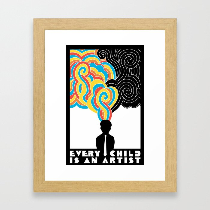 Every Child Is An Artist Framed Art Print