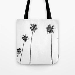 Black + White Palms Tote Bag