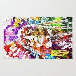 Native American Grunge Watercolor Rug