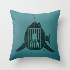 Steven Spielberg's JAWS Throw Pillow
