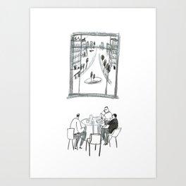 The Dining Club Art Print