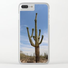 In The Desert Sun Clear iPhone Case