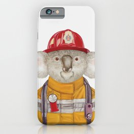 Koala Firefighter iPhone Case