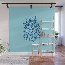 Puli (Sky Blue and Blue) Wall Mural