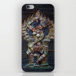 Mosaic Stone Figurine iPhone Skin