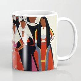 Nuoro Sardinia vintage Italian travel ad Coffee Mug